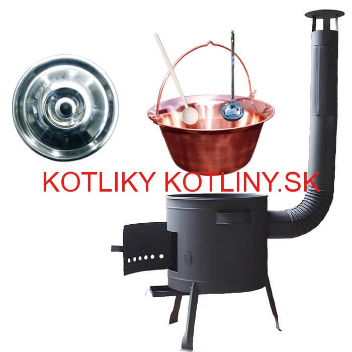 Medený kotlík 30 L (1,2 mm) + kotlina 45 cm PLUS 600
